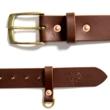Devil leather belt brown
