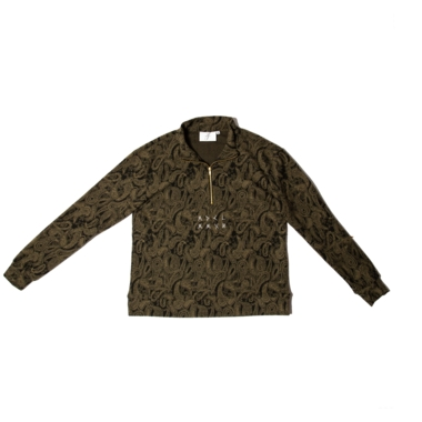 Kashmir pattern fleece anorak x Long Story Tattoo