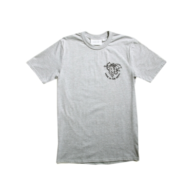Love is the devil tee grey