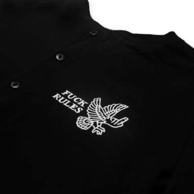 Fuck rules henley short sleeve
