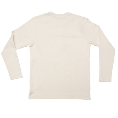 Henley long sleeve off white