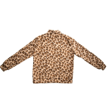 Leopard fleece anorak