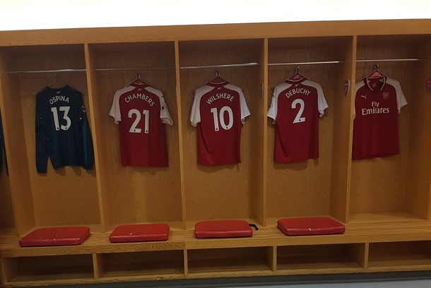 חדר ההלבשה באצטדיון של ארסנל