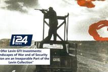 עופר לוין GTI בראיון לחדשות I24 - על נופי המלחמה המשתקפים באוסף לוין