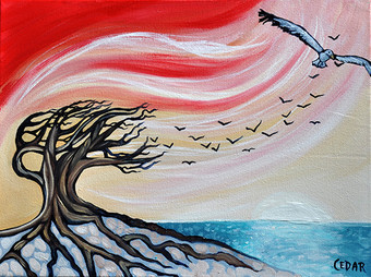 Ocean wind by Cedar Lee