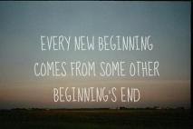 כל סוף הוא התחלה חדשה