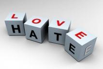 הגבול הדק בין שנאה לאהבה