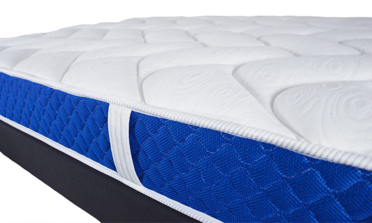 matelas mousse m moire de forme bleu royal matelas pas cher. Black Bedroom Furniture Sets. Home Design Ideas