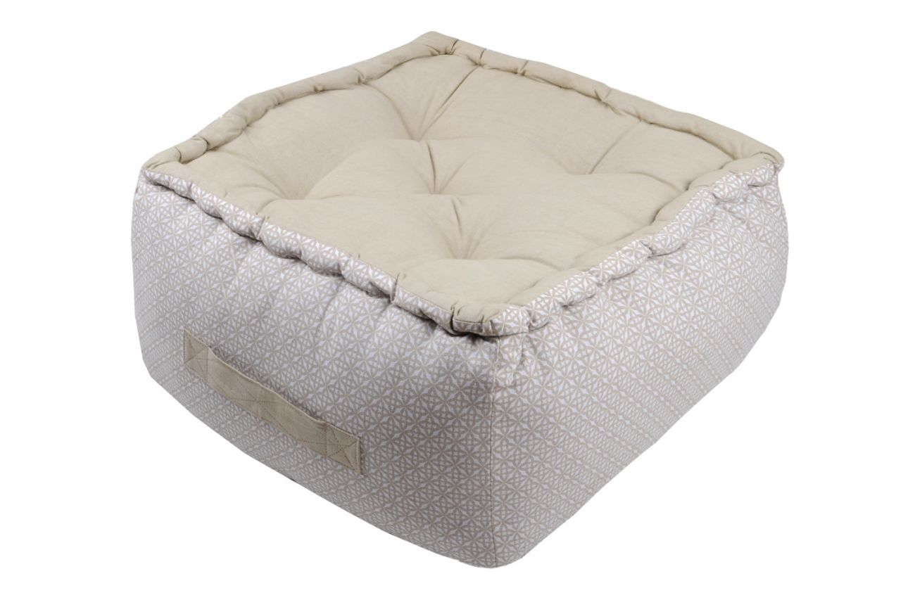 Seconde Image produit Pouf Beauty lin 40x40x30cm