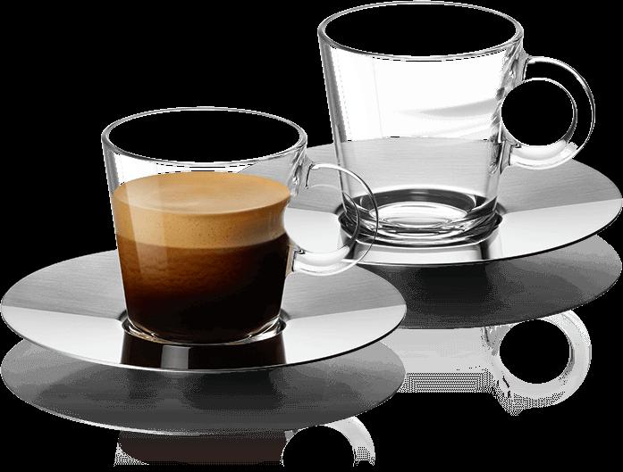 view espresso glazen