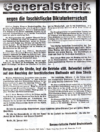 Von der KPD auch in Neustadt nach dem 30. Januar 1933 verbreitetes Flugblatt. Foto: Stadtarchiv Ludwigshafen Y 4.