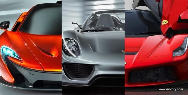Porsche 918 Vs Mclaren P1 Ferrari Laferrari For The First Time