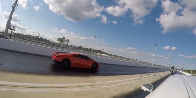 Lamborghini Huracan Vs Dodge Challenger Hellcat Video Motory