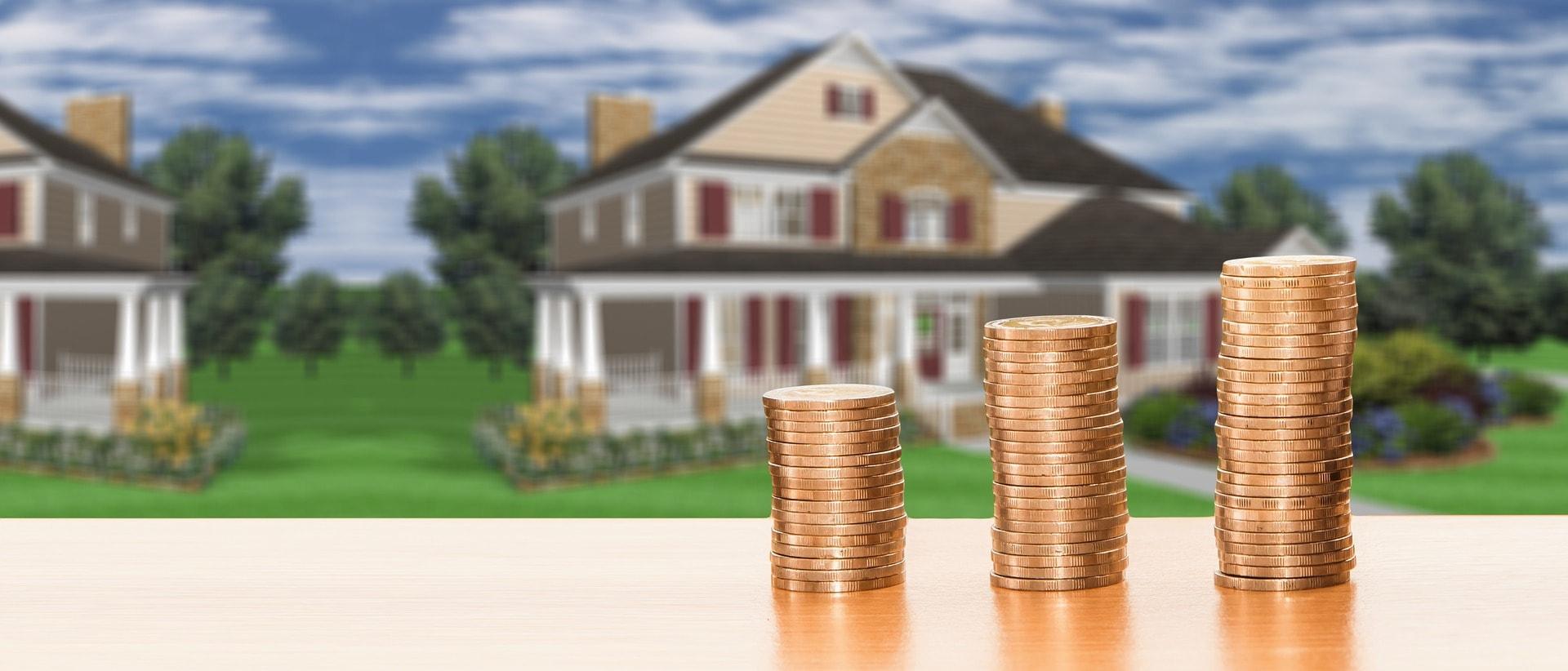 Дом, золотые монеты - налоги на недвижимость в украине покупка, продажа