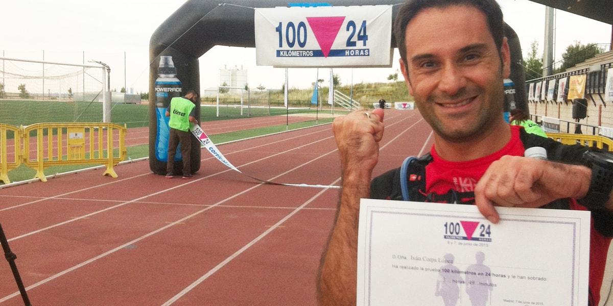 Iván Corps en el gran reto de los 100 Km con nootric