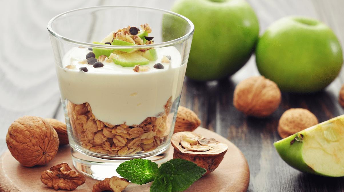 Trabajo y snacks saludables