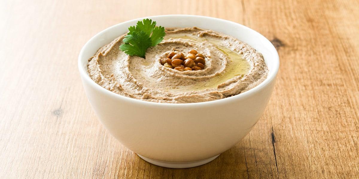 Hummus de lentejas con sésamo