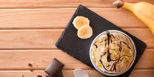 Helado de plátano con cacao