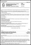 ČSN ISO 9851 Zařízení pro plynulou dopravu nákladů. Poháněné závěsové tratě jednodráhové. Terminologie a bezpečnostní předpisy