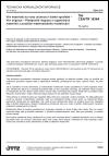 TNI CEN/TR 16364 Vliv materiálů na vodu určenou k lidské spotřebě - Vliv migrace - Předpověď migrace z organických materiálů s použitím matematického modelování