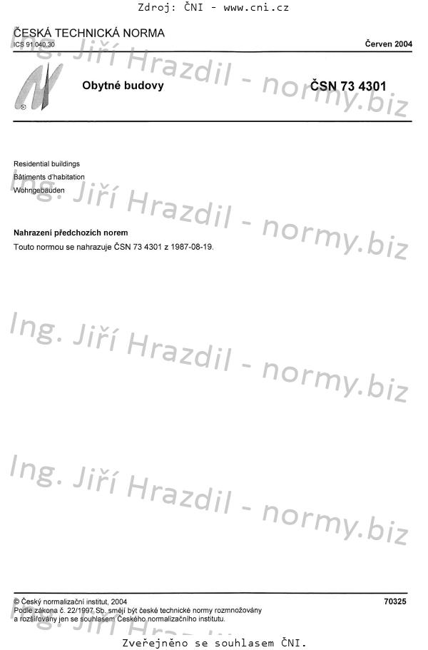 Norma čsn 73 4301