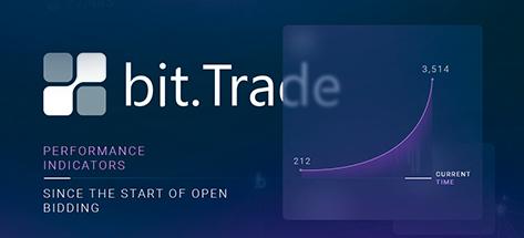 Статистика работы сервиса Bit Trade с момента запуска открытых торгов Bitbon