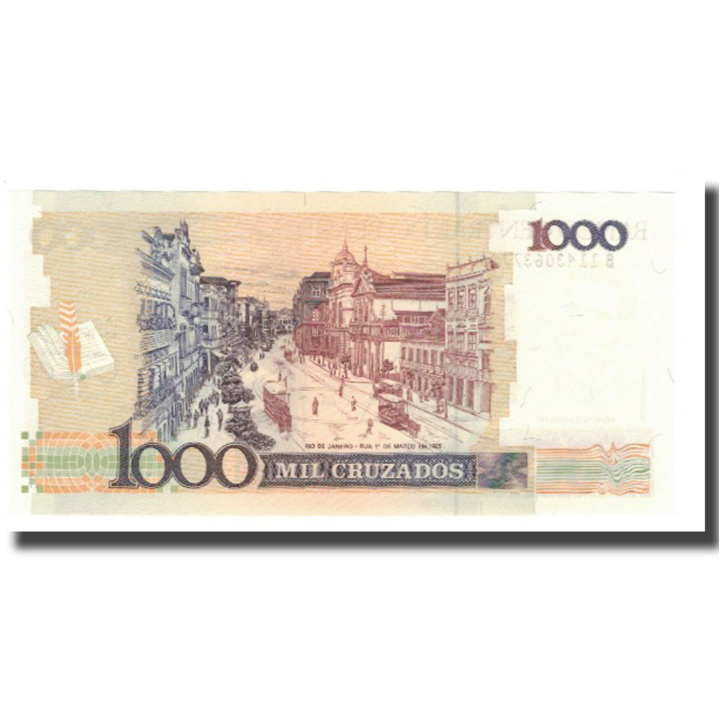 Brazil P-213 1000 Cruzados Year ND 1987-88 Uncirculated Banknote