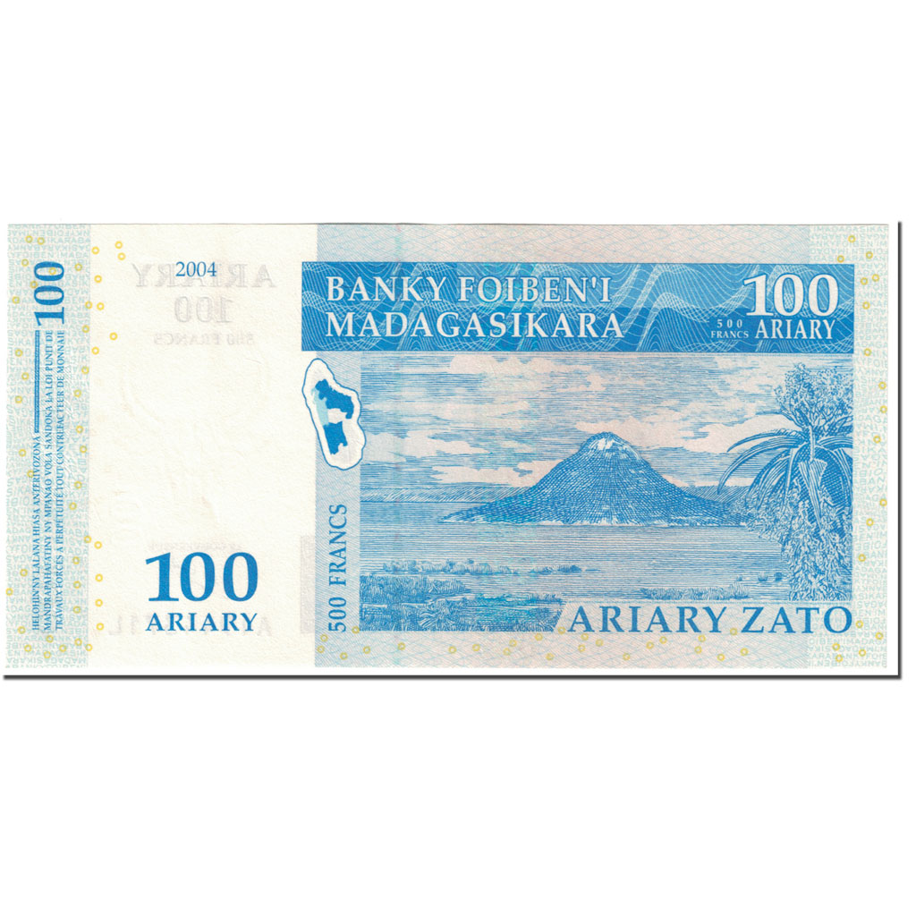 KM#89-2004 MADAGSCAR 1,000 ARIARY NOTE UNC