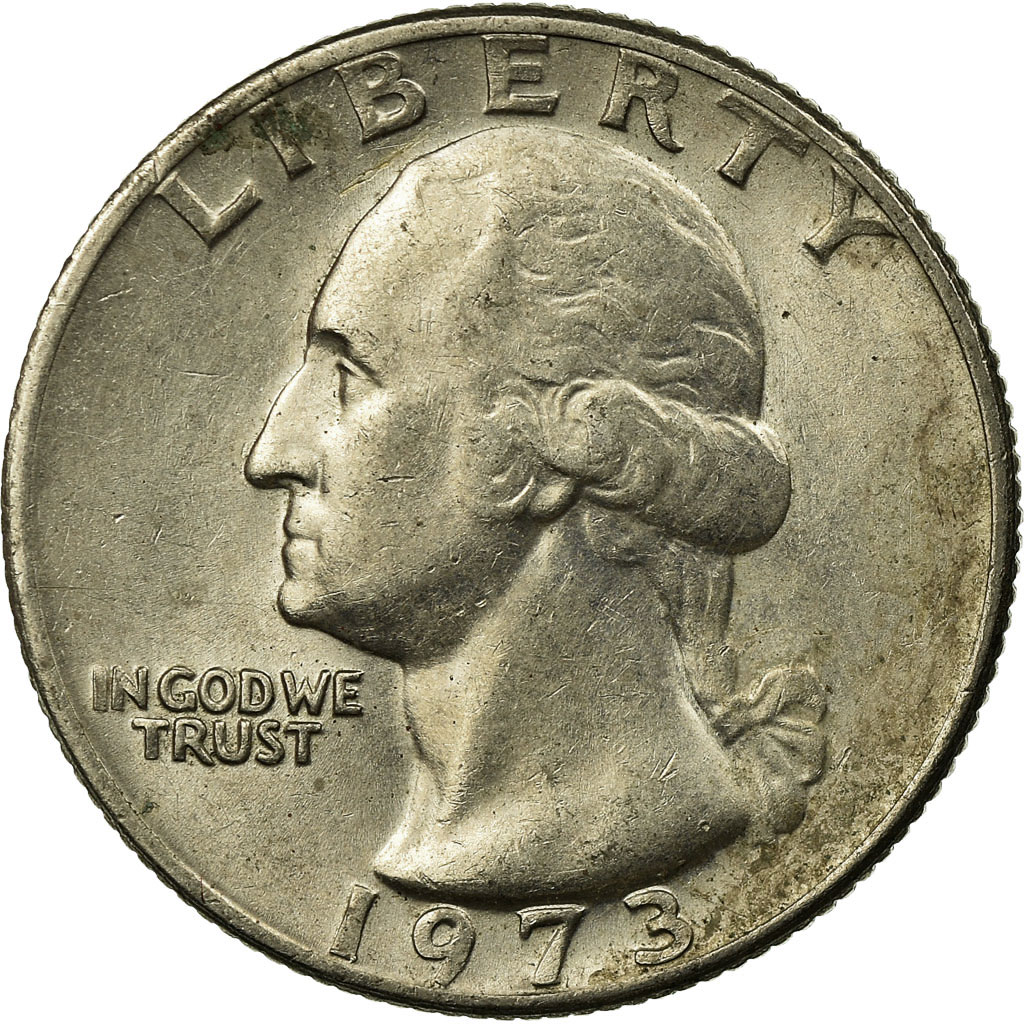Coin, United States, Washington Quarter, Quarter, 1973, U S  Mint,  Philadelphia