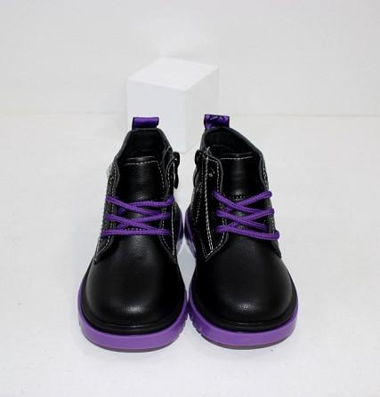Ботинки осенние для девочек на молнии + шнурок Код: 111824 (C6217-1) Запоріжжя - зображення 3