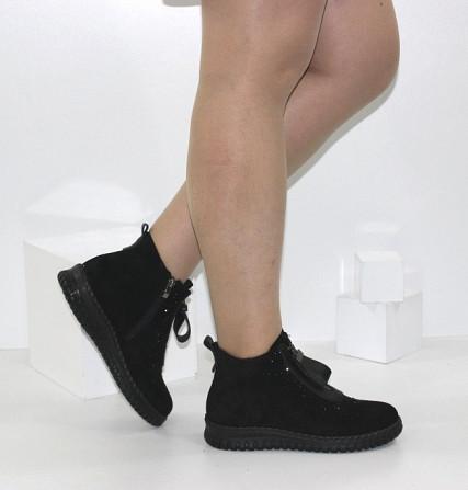 Женские ботинки в стразах Код: 107897 (BK232-1) Запоріжжя - зображення 2