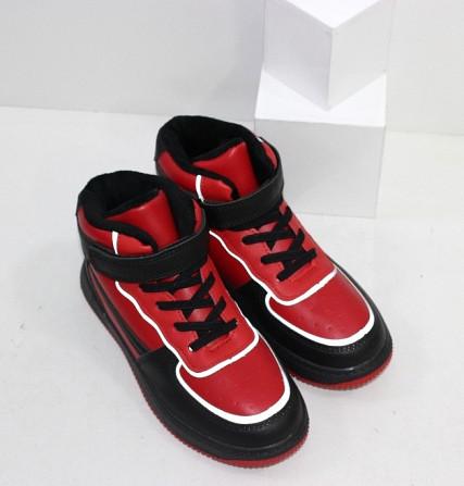 Черно-красные хайтопы для мальчиков на липучке Код: 111886 (C30244-13) Запоріжжя - зображення 4
