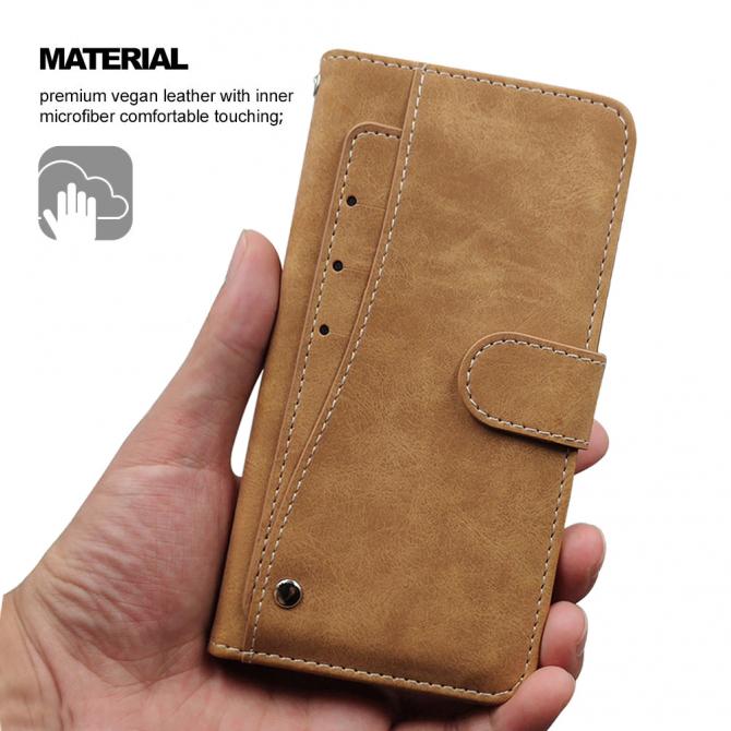 Кожаный чехол-книжка Umidigi F2, Realme 7 5G. Хмельницький - зображення 7