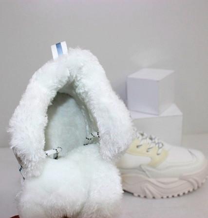 Зимние белые кроссовки теплые Код: 111846 (883-3) Запоріжжя - зображення 5