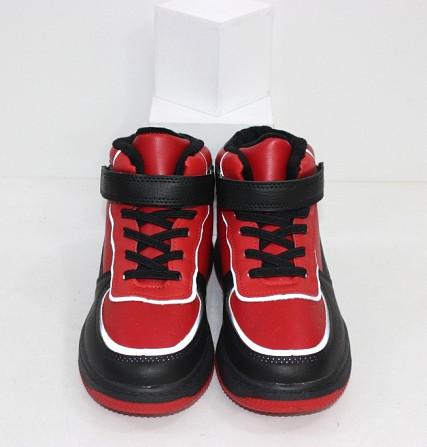 Черно-красные хайтопы для мальчиков на липучке Код: 111886 (C30244-13) Запоріжжя - зображення 6