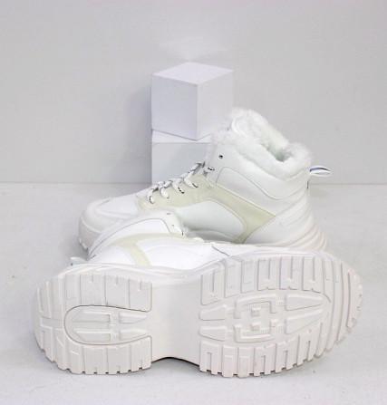 Зимние белые кроссовки теплые Код: 111846 (883-3) Запоріжжя - зображення 2