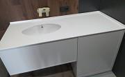 Стільниці в ванну зі штучного каменю (акрил). Стільниці для ванної Харків