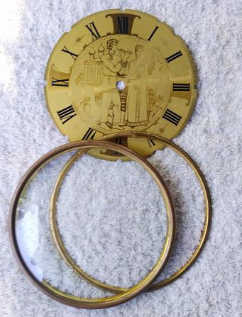 Стекло в рамке и циферблат к каминным часам Київ - зображення 2