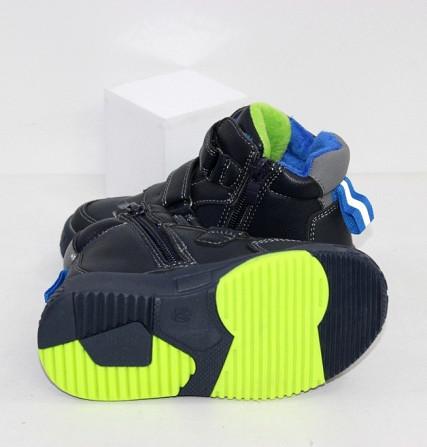 Синие осеннние ботинки для мальчиков на липучках Код: 111888 (R5877-1) Запоріжжя - зображення 2