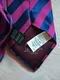 Актуальный винтажный шелковый галстук в полоску 100% шелк marks spenser Дніпро