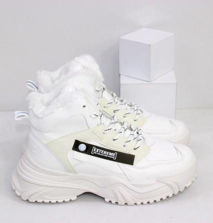 Зимние белые кроссовки теплые Код: 111846 (883-3) Запоріжжя - зображення 4