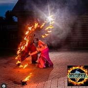 Свадебное романтичное огненное шоу! Салют и пиротехник на финал. Черкаси
