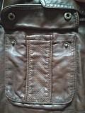 Брендовая коричневая женская куртка с поясом из экокожи new look Дніпро