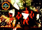 Фаер шоу в Черкассах на праздник, салют и холодніе фонтатаны Черкаси