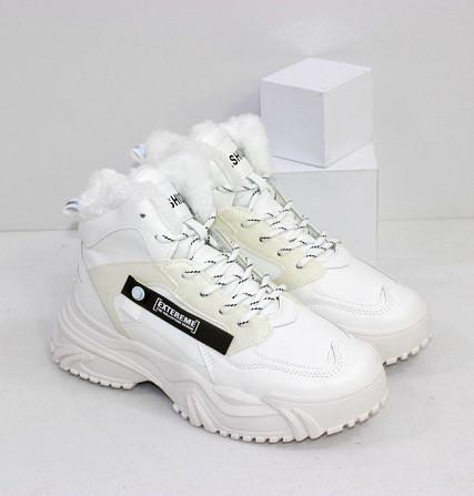 Зимние белые кроссовки теплые Код: 111846 (883-3) Запоріжжя - зображення 1
