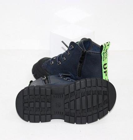 Осенние ботинки для мальчика с молниями и шнурками Код: 111819 (R5288-1) Запоріжжя - зображення 6