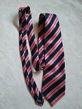 Брендовый, актуальный, винтажный шелковый галстук в полоску 100% шелк racing green Дніпро
