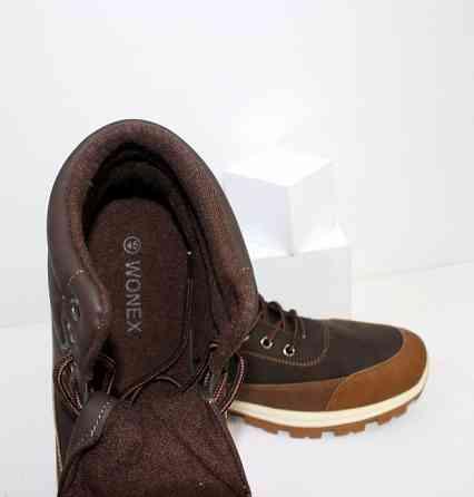 Коричневые мужские ботинки спортивного стиля на шнурках Код: 111799 (20-853-brown) Запоріжжя