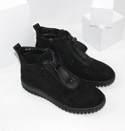 Женские ботинки в стразах Код: 107897 (BK232-1) Запоріжжя - зображення 3