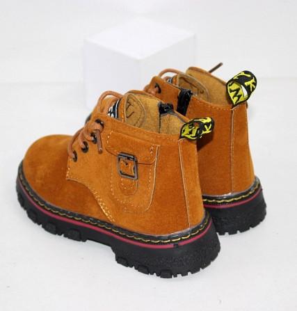 Осенние ботинки для мальчиков в рыжем цвете Код: 111818 (R5287-2) Запоріжжя - зображення 3